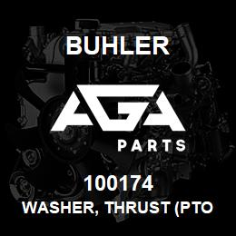 100174 WASHER, THRUST (PTO Clutch Assembly - L4WD) - 100174 - Buhler