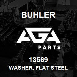 13569 Buhler Washer, Flat Steel - 1.375 x 2.50 x 0.165 Pl | AGA Parts