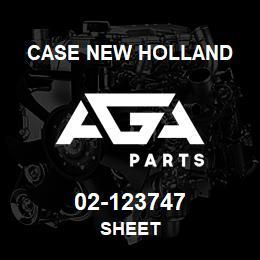 02-123747 Case New Holland SHEET | AGA Parts