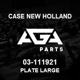 03-111921 Case New Holland PLATE LARGE | AGA Parts