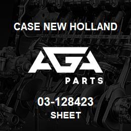 03-128423 Case New Holland SHEET   AGA Parts