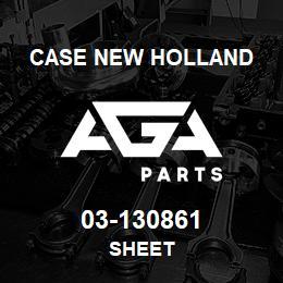 03-130861 Case New Holland SHEET   AGA Parts