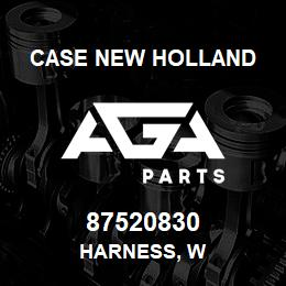 87520830 Case New Holland HARNESS, W | AGA Parts