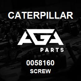 0058160 Caterpillar SCREW | AGA Parts