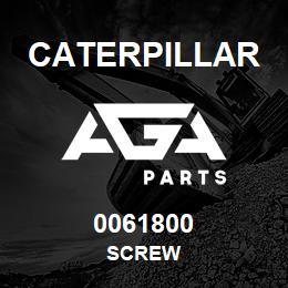 0061800 Caterpillar SCREW | AGA Parts