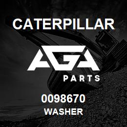 0098670 Caterpillar WASHER | AGA Parts