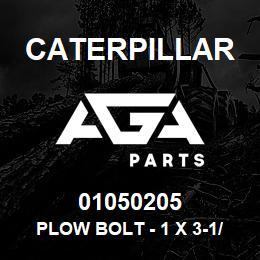 01050205 Caterpillar PLOW BOLT - 1 X 3-1/4 UNC (NUT 2J35 | AGA Parts