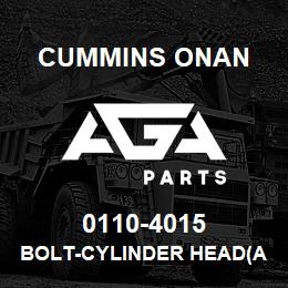0110-4015 Cummins Onan BOLT-CYLINDER HEAD(AX1004615) | AGA Parts