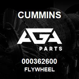 000362600 Cummins FLYWHEEL | AGA Parts
