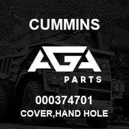 000374701 Cummins COVER,HAND HOLE