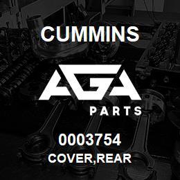 0003754 Cummins COVER,REAR | AGA Parts