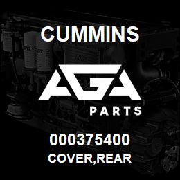 000375400 Cummins COVER,REAR | AGA Parts