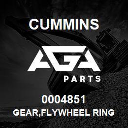 0004851 Cummins GEAR,FLYWHEEL RING