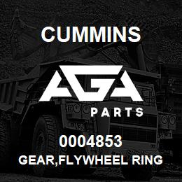 0004853 Cummins GEAR,FLYWHEEL RING | AGA Parts