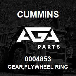 0004853 Cummins GEAR,FLYWHEEL RING   AGA Parts