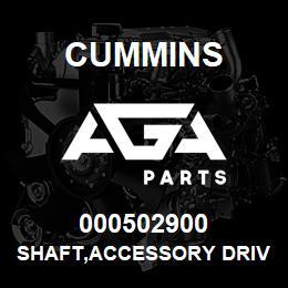 000502900 Cummins SHAFT,ACCESSORY DRIVE | AGA Parts