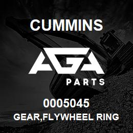 0005045 Cummins GEAR,FLYWHEEL RING | AGA Parts