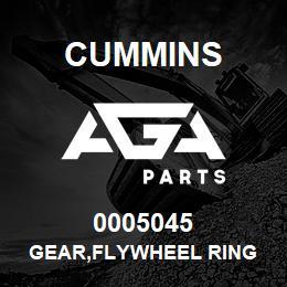 0005045 Cummins GEAR,FLYWHEEL RING | AGA Parts