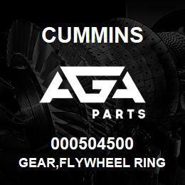 000504500 Cummins GEAR,FLYWHEEL RING | AGA Parts