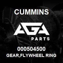 000504500 Cummins GEAR,FLYWHEEL RING   AGA Parts