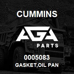 0005083 Cummins GASKET,OIL PAN | AGA Parts