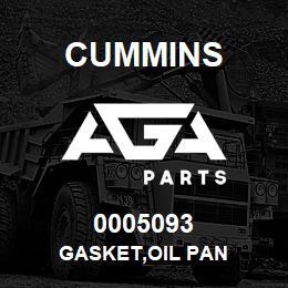 0005093 Cummins GASKET,OIL PAN | AGA Parts