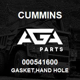 000541600 Cummins GASKET,HAND HOLE | AGA Parts
