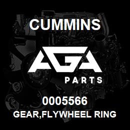 0005566 Cummins GEAR,FLYWHEEL RING | AGA Parts