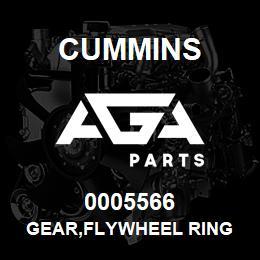 0005566 Cummins GEAR,FLYWHEEL RING   AGA Parts