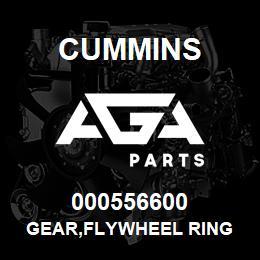 000556600 Cummins GEAR,FLYWHEEL RING | AGA Parts