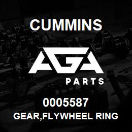 0005587 Cummins GEAR,FLYWHEEL RING | AGA Parts