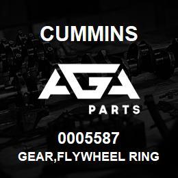 0005587 Cummins GEAR,FLYWHEEL RING | AGA Parts