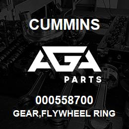 000558700 Cummins GEAR,FLYWHEEL RING | AGA Parts