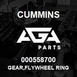 000558700 Cummins GEAR,FLYWHEEL RING | AGA Parts
