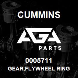 0005711 Cummins GEAR,FLYWHEEL RING | AGA Parts