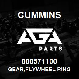 000571100 Cummins GEAR,FLYWHEEL RING | AGA Parts
