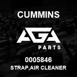 0005846 Cummins STRAP,AIR CLEANER | AGA Parts