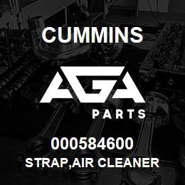 000584600 Cummins STRAP,AIR CLEANER   AGA Parts