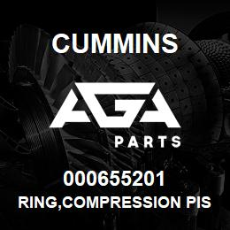 000655201 Cummins RING,COMPRESSION PISTON | AGA Parts