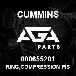 000655201 Cummins RING,COMPRESSION PISTON   AGA Parts