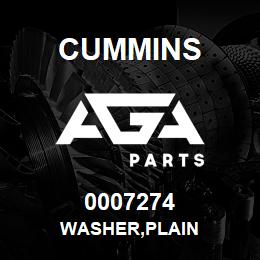 0007274 Cummins WASHER,PLAIN | AGA Parts