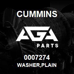 0007274 Cummins WASHER,PLAIN | AGA Parts
