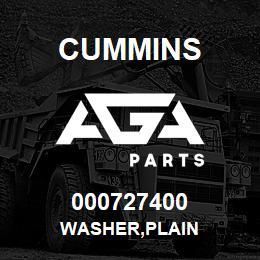 000727400 Cummins WASHER,PLAIN | AGA Parts