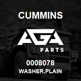 0008078 Cummins WASHER,PLAIN | AGA Parts