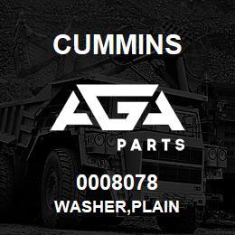 0008078 Cummins WASHER,PLAIN
