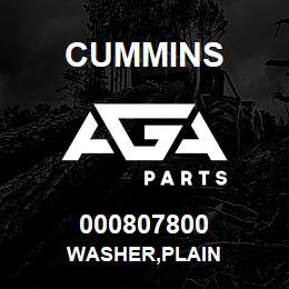 000807800 Cummins WASHER,PLAIN | AGA Parts