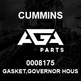 0008175 Cummins GASKET,GOVERNOR HOUSING | AGA Parts