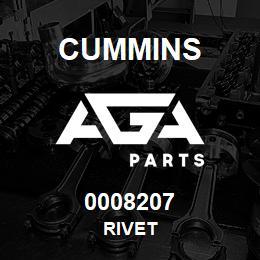 0008207 Cummins RIVET | AGA Parts