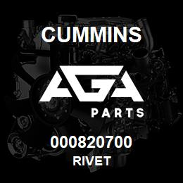 000820700 Cummins RIVET | AGA Parts
