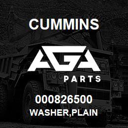 000826500 Cummins WASHER,PLAIN | AGA Parts